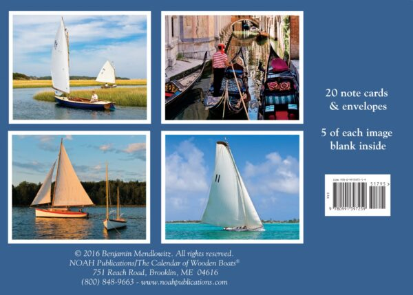 back cover wooden boat note cards